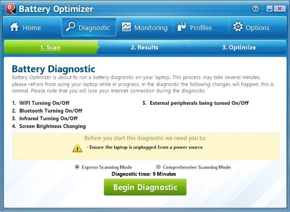 Battery Optimizer - Tối ưu hóa và tăng thời gian sử dụng pin của laptop