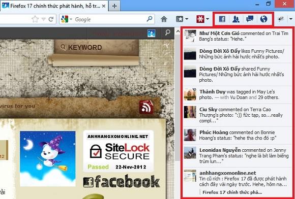 Firefox 17 chính thức phát hành, hỗ trợ Facebook