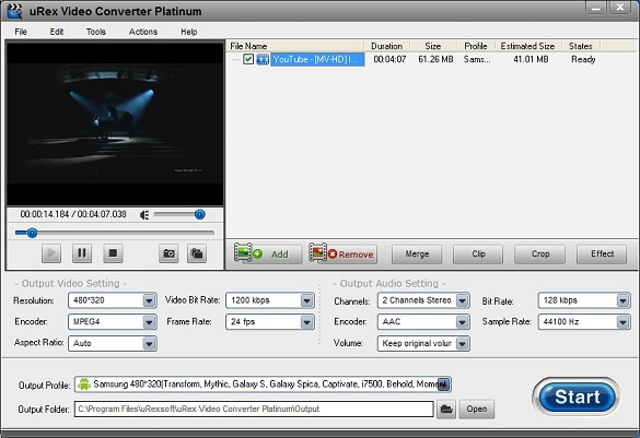 uRexsoft Video Converter Platinum - Nhận key bản quyền miễn phí