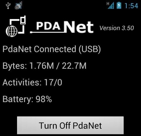 PdaNet - Truy cập internet từ 3G trên điện thoại di động
