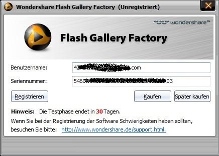 Wondershare Flash Gallery Factory - Nhận key bản quyền miễn phí phần mềm làm phim flash từ hình ảnh