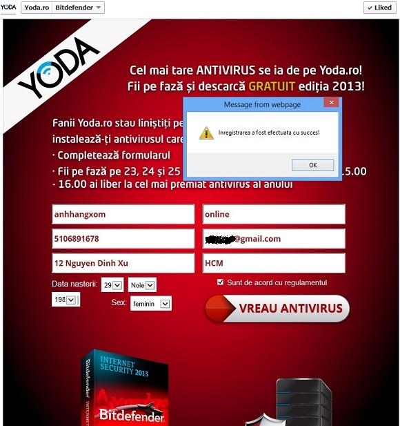 BitDefender Internet Security 2013 - Nhận key bản quyền miễn phí