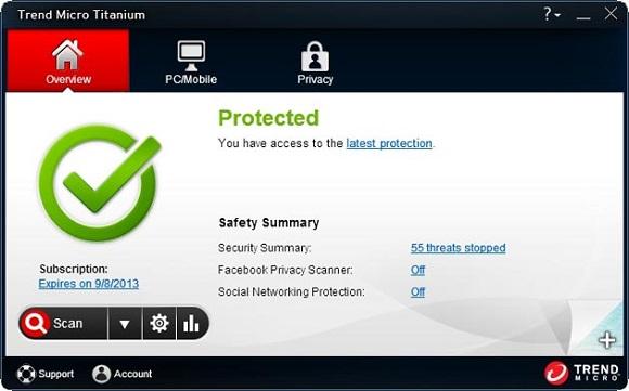Trend Micro Titanium Antivirus Plus 2013 - Nhận key bản quyền 1 năm miễn phí