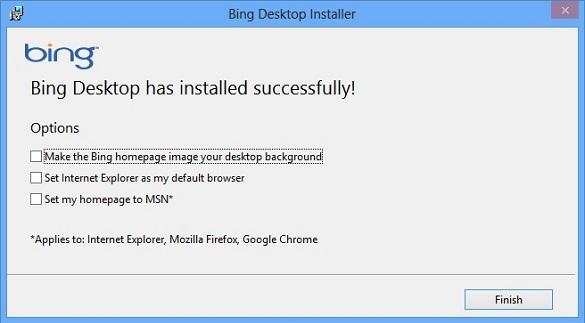 Bing Desktop - Truy cập facebook, lấy hình nền Bing về làm hình nền Desktop