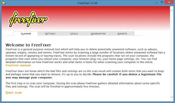 FreeFixer - Truy lùng dấu vết virus