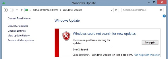 Xử lý lỗi Windows Update bị treo