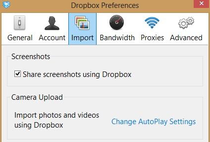 Chụp ảnh màn hình và chia sẻ nhanh chóng với Dropbox