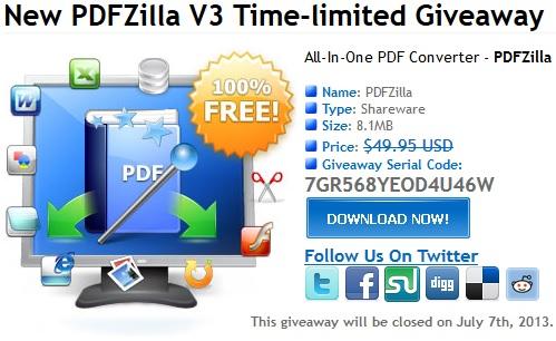 PDFZilla v3 - Nhận key bản quyền miễn phí