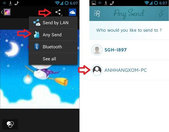 AnySend - Chia sẻ dữ liệu giữa các thiết bị cực dễ