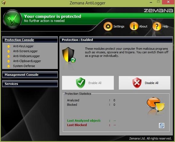 Zemana Antilogger - Nhận key bản quyền miễn phí