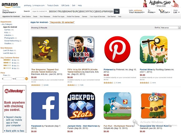 Nhận miễn phí 460 Amazon Coins để mua ứng dụng trên AmazonStore