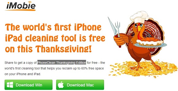 PhoneClean Thanksgiving Edition - Nhận key bản quyền phần mềm tăng tốc...iPhone
