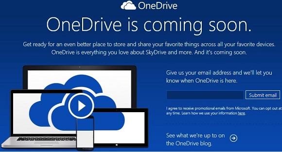 OneDrive chuẩn bị thay thế SkyDrive