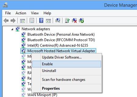 Biến laptop thành điểm phát sóng Wifi trong Windows 8