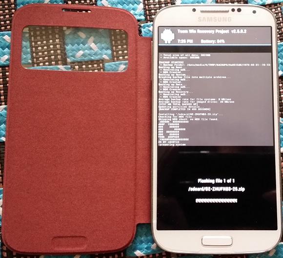 Root, cài Recovery và ROM mới cho Galaxy S4