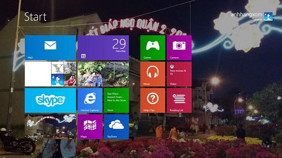 Hiển thị hình nền Desktop trên giao diện Modern UI