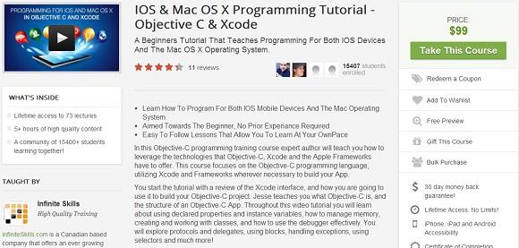 Tặng bạn đọc gói học phát triển ứng dụng cho iOS và MacOS từ Udemy trị giá $99