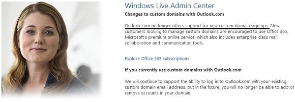 Microsoft chính thức ngưng cung cấp dịch vụ Custom domain