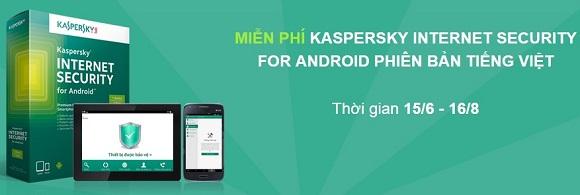 Kaspersky Internet Security for Android - Nhận key bản quyền 1 năm miễn phí