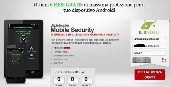 BitDefender Mobile Security & Antivirus - Nhận key bản quyền 6 tháng miễn phí