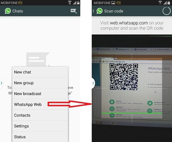 Cài WhatsApp trên điện thoại, sử dụng trên...máy tính