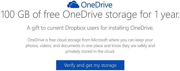 Tăng 100GB tài khoản OneDrive miễn phí trong 1 năm