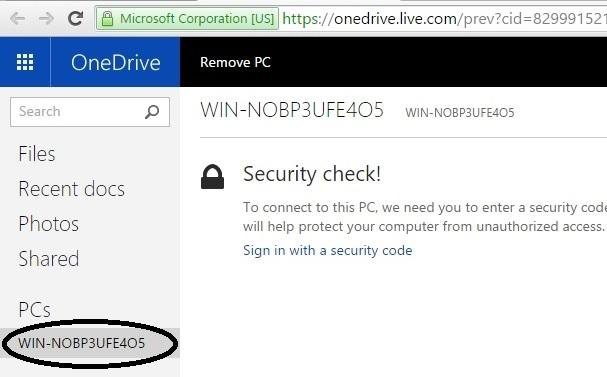 Sử dụng OneDrive truy cập ổ cứng từ xa