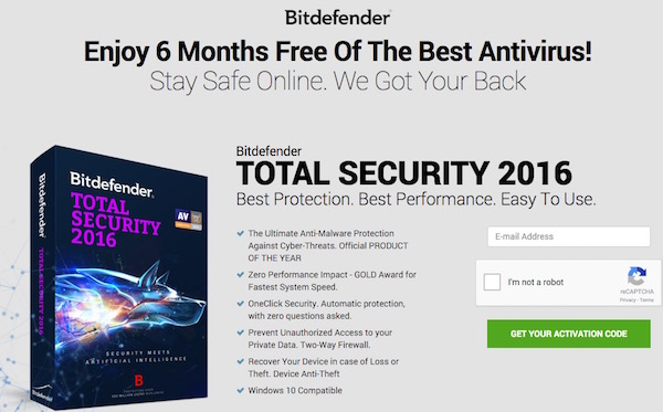 BitDefender Total Security 2016 - Get 6 months license key for free !