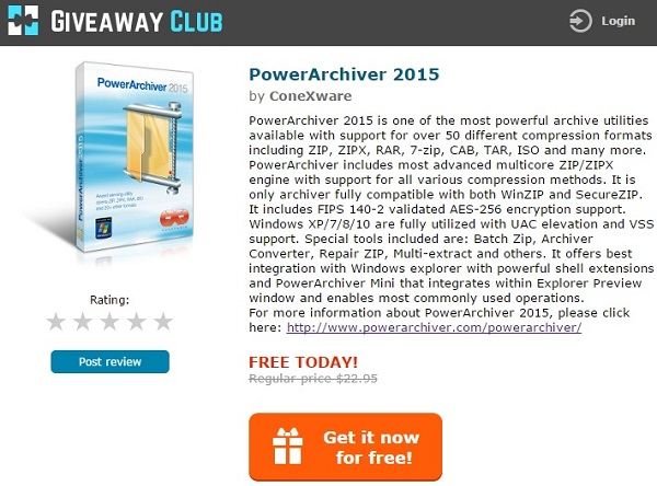 PowerArchiver 2015 Standard - Free license key !