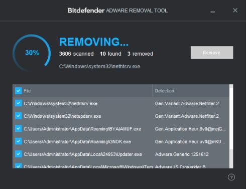 BitDefender Adware Removal Tool