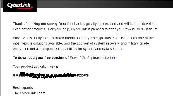 Power2Go 9 Platinum - Key ban quyen mien phi