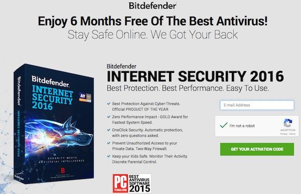 BitDefender Internet Security 2016 free license key