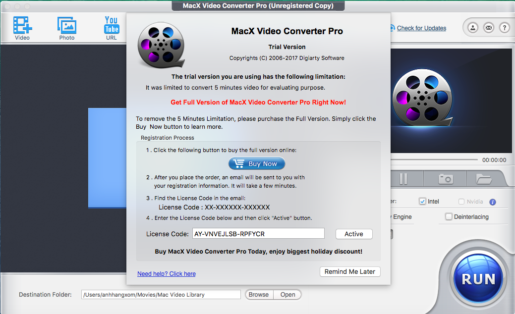 MacX Video Converter Pro v6.0.4 - Full serial key code