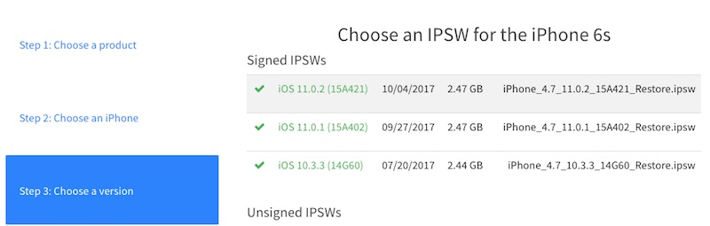 Downgrade iPhone 6S from iOS 11 to iOS 10.3.3
