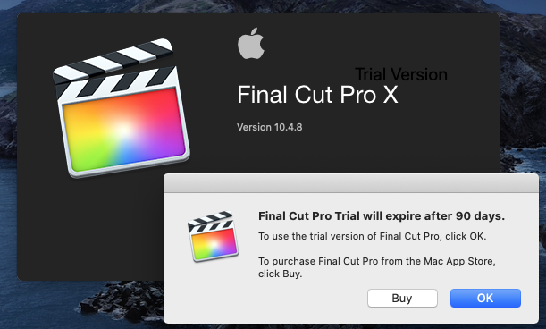 Apple Final Cut Pro X - 90 days trial