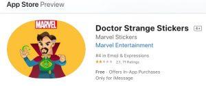 Doctor Strange iMessage sticker