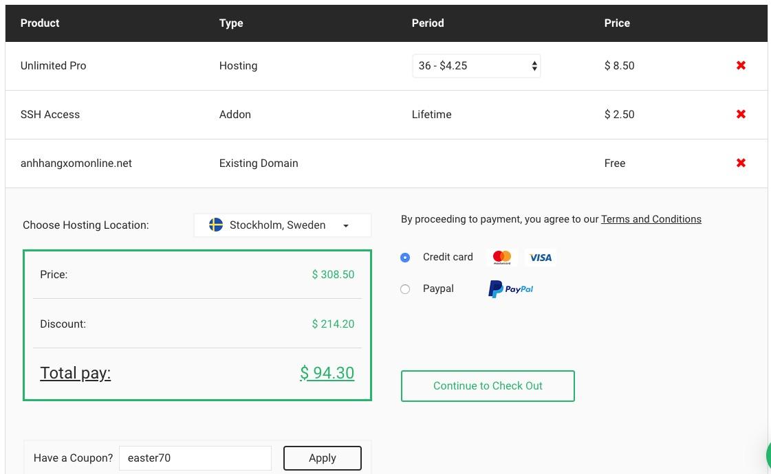 Mã giảm giá stablehost coupon code 2020